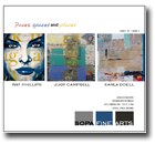 Ray Philips + Judy Campbell + Karla Doell art exhibition