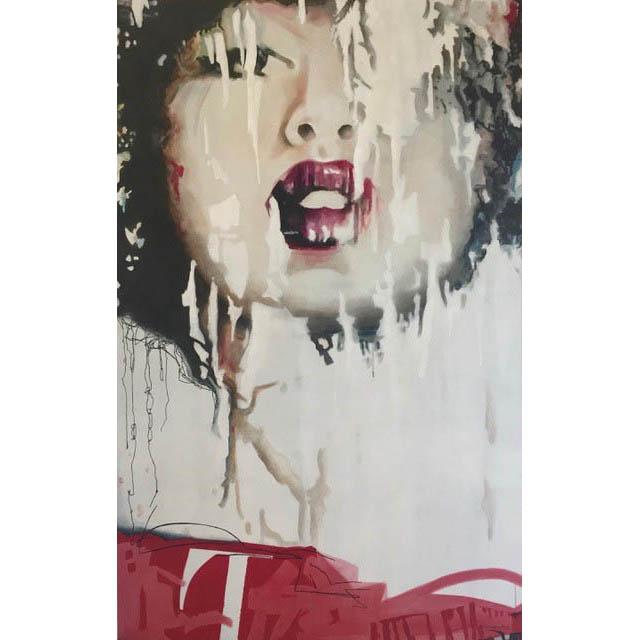 Diana Creasy-Funk - Tokyo  - 66 in. x 42 - acrylic on canvas