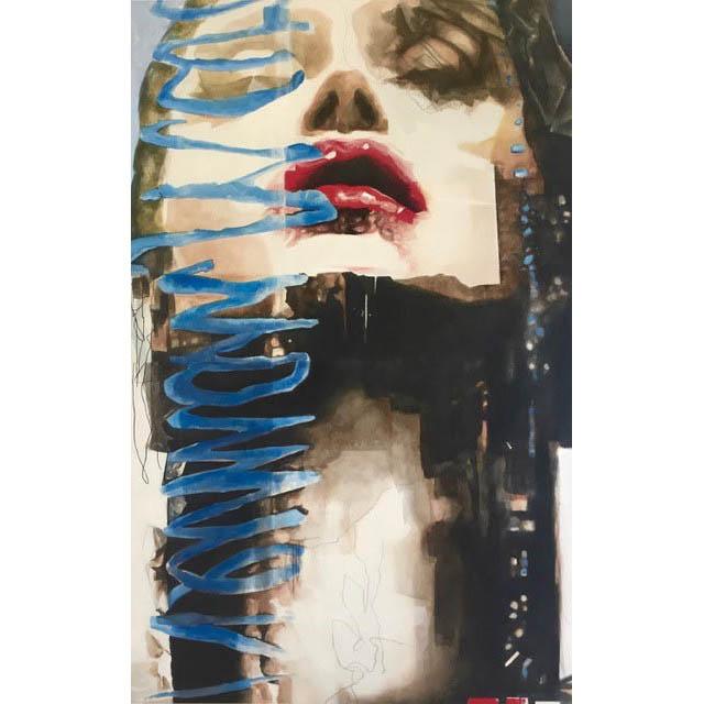 Diana Creasy -  Funk  - Vancouver  - 66 in. x 42  - acrylic on canvas