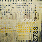 XXX  - 55 in. x 55  - mixed media on canvas