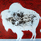 Derby Place Bison - 48 in. x 60 - mixed media acrylic on panel