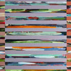 Venetian Blind 5 - 70 in. x 28 - acrylic on canvas/panel