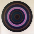 Untitled acrylic & pigment on aluminum -48 inch diameter