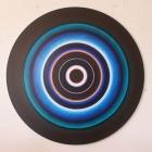 Untitled - acrylic on aluminum - 60 inch diameter