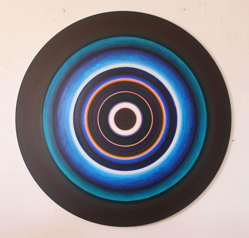 Untitled - acrylic on aluminum-60 inch diameter