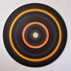 Untitled - acrylic on aluminum -60 inch diameter