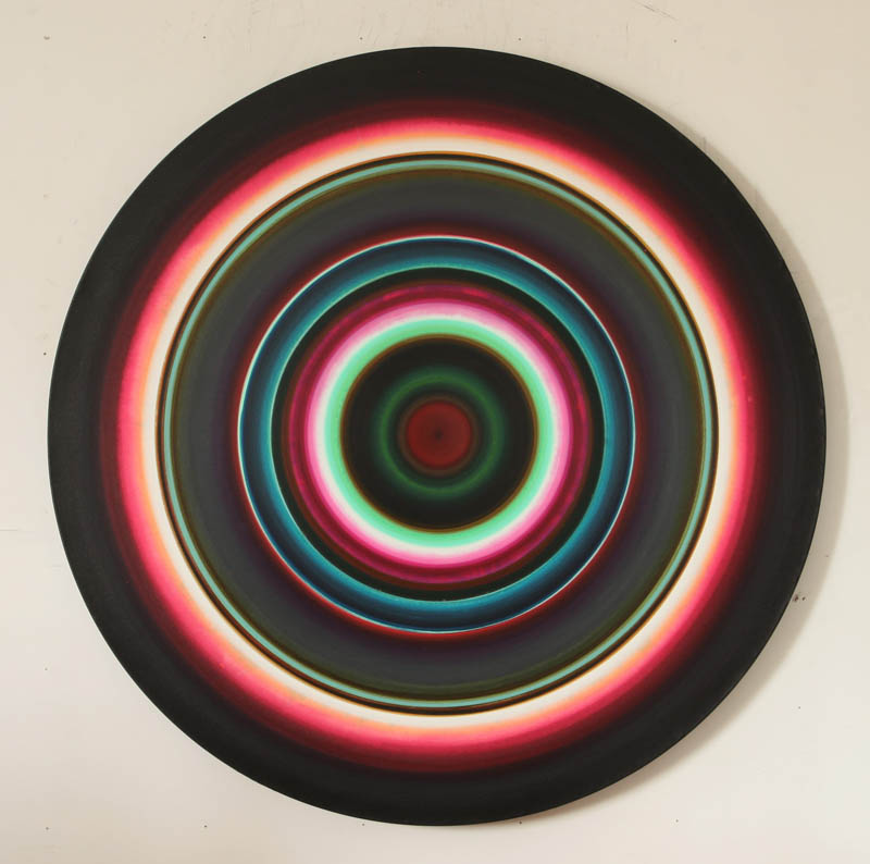 Untitled - acrylic on canvas, 64 inch diameter
