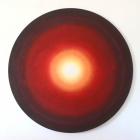 Untitled - acrylic & watercolour on canvas -64 inch diameter