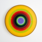 untitled - 17 inch diameter - acrylic on aluminum
