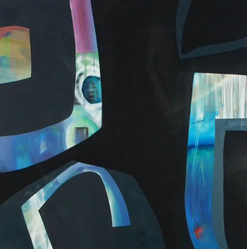 Alayne Spafford - untitled  - 48 in. x 48 - acrylic / mixed media on canvas