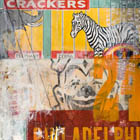 Big Top - 70 in. x 44 - mixed media on canvas