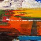 Deep in Orange - 36 in. x 60 - acrylic on canvas