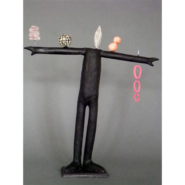 Melissa Stern - Horizontal Line - 22 in. x 24 x 4.5 sculpture
