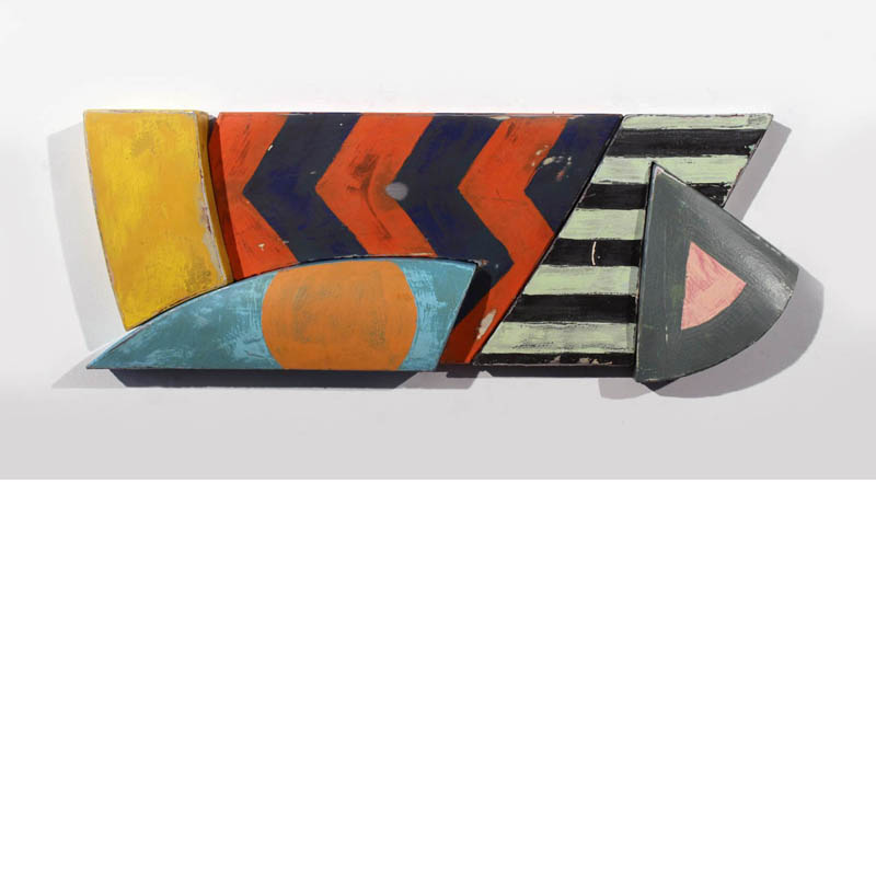 Richard Taylor - Pacific Beach - mixed media on shaped steel panels