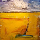 Shades Of Yellow  - 60 in. x 48 - acrylic on canvas