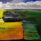 Split Fields - 30 in x 40 - acrylic on canvas