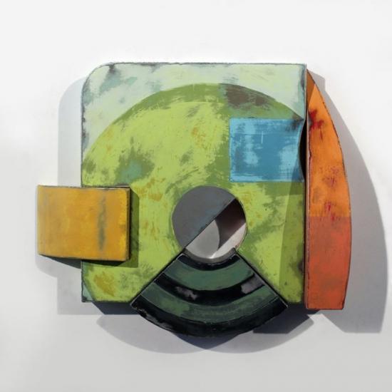 Richard Taylor - mixed media on shaped steel panels
