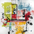 Dare - 44 in. x 44 - mixed media on canvas