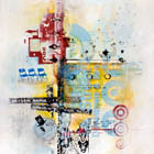 Insomnolence - 60 in. x 48 in. - mixed media on canvas
