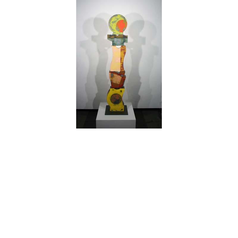 Richard Taylor - mixed media on steel - sculpture