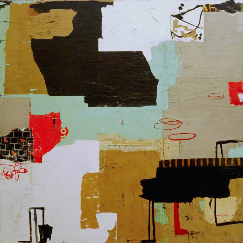 Michael Shemchuk - tags 0318 - 47x47 - acrylic on wood panel