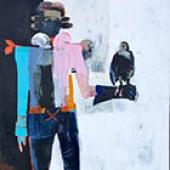 Bird of Prey 2 - 60 in. x 48 - acrylic on canvas
