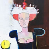 New Queen - 60 in. x 20 - acrylic on canvas