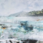 Sayulita - 52 in. x 48 - mixed media on steel