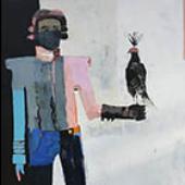 Bird of Prey - 60 in. x 36 in. - acrylic on canvas