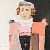 Monsieur Pierre - 60 in. x 20 in. - acrylic on canvas